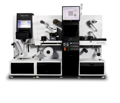 Digital label and flexible packaging press